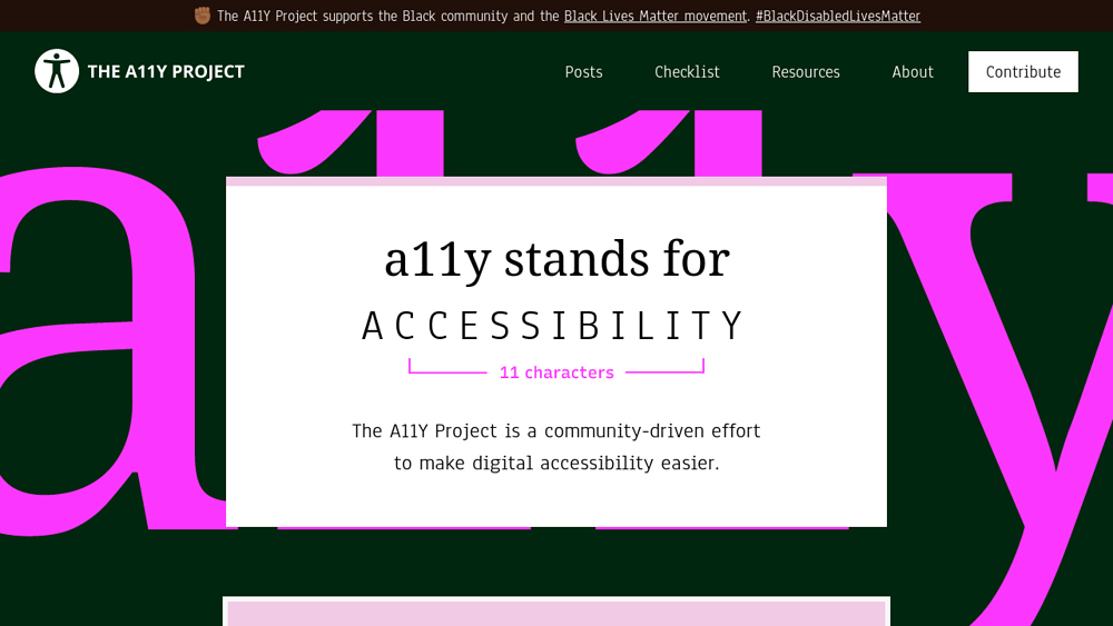 preview of The A11Y Project